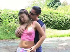 Old dirty guy fucking hot sinless brand-new teen outdoors