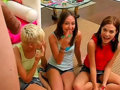 Horny teen Brandi and her girlfriends having fun with bushwa