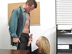 Undisciplined schoolgirl is giving teacher a lusty blowjob
