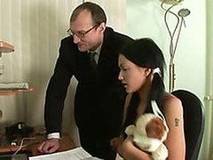 Blameless darling is tempted by an elderly plus horny teacher