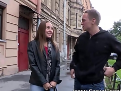 This teeny not ever thought that babe'd be able to have sex on a very first date until this babe met this hawt guy right on the street. With all his charm and sweet-talking that babe got so aroused her twat was leaking wet previous to this chab even touched it. Her nipples got so hard and hyper-sensual each time her paramour kissed 'em that babe couldn't stop herself from groaning out loud. Moments later his schlong was in her mouth and that babe followed with getting fucked to orgasm and going for one greater amount round with no intermission. No regrets and no strings attached. Consummate!