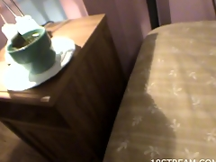 Sexually excited wench gets fucked on the sofa and in the end gets cum