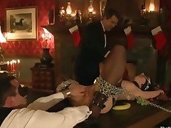 Busted sexy babe sex masseuse bound and fucked Asa Akira.